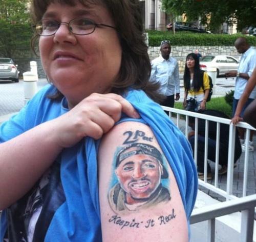 2PAC Tattoo on arm